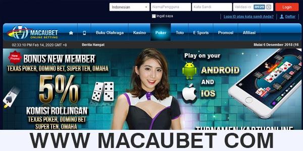 WWW MACAUBET COM